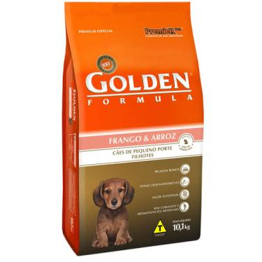 Ração Seca PremieR Pet Golden Formula Cães Filhotes Mini Bits Frango e Arroz - 10,1 Kg