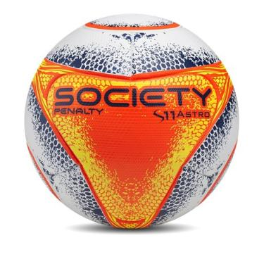 Bola Futebol Society S11 Pro Astro VIII Penalty - Branco Laranja f26647746c949