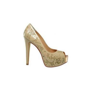 Sapato Cravo E Canela Dourado 11417