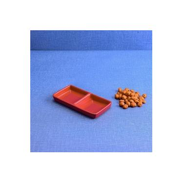 Imagem de Petisqueira de Cerâmica Gourmet Vermelha 17x09cm