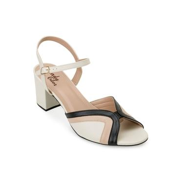 Sandália Lady Queen AM20-1290225 Preto-Creme