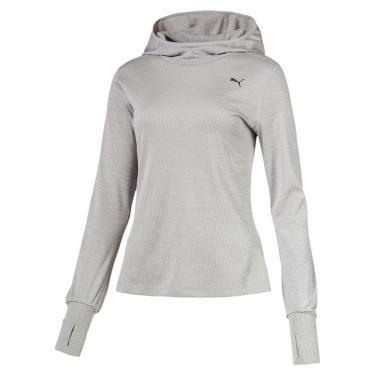 Camiseta Puma Ignite Hooded Top Manga Longa Feminina - Feminino f5e3ad8babf27