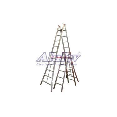 Escada Alumínio Pintor 19 Degraus - 6,00 m (Alulev)