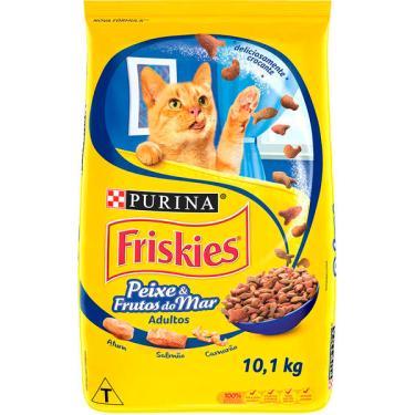 Ração Seca Nestlé Purina Friskies Peixe & Frutos do Mar para Gatos Adultos - 10,1 Kg