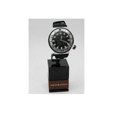 268ea1199c0 Relógio Victor Hugo Masculino VH10094GSS Pulseira Borracha Preto