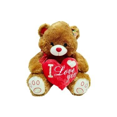 Imagem de Urso de Pelucia Grande Com Coracao I Love You 57 Cm