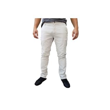 Calça Sarja Gelo Masculina Slim com elastano
