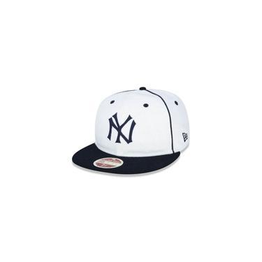 Bone 59fifty New York Yankees Mlb Aba Reta Off White New Era
