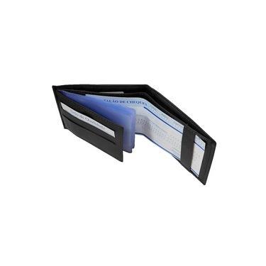 Carteira Masculina de Bolso Couro Legítimo Fecho Passador Porta Cartões Notas Moedas RG CNH TN-02P