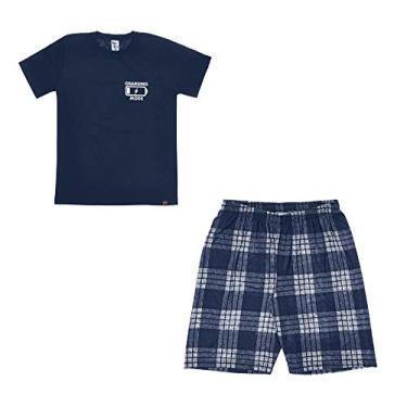 Pijama Juvenil Menino Manga Curta Pulla Bulla Ref. 42854 Cor:Azul marinho;Tamanho:14