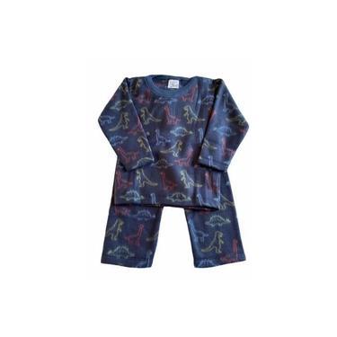 Pijama Infantil Soft Estampado Menino Dinossauro Azul Marinho