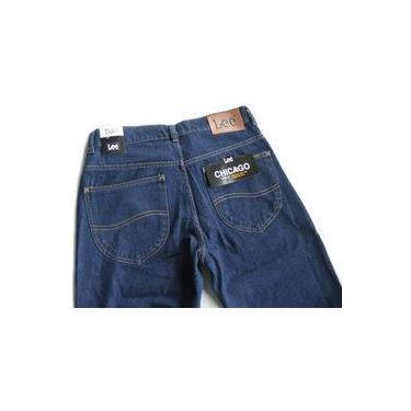 Calça Jeans Lee Chicago Masculina Tradicional 100% Algodão Stone Escura 1004
