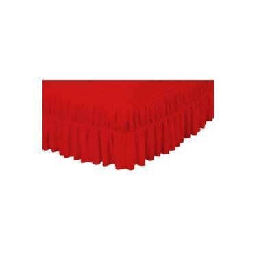 Imagem de Saia Box Casal Padrao Perola Bordado Ultrassonico - Vermelho