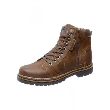 Bota Coturno em Couro Mega Boots 6015 Marrom  masculino