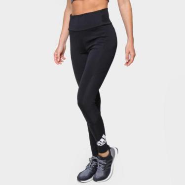 Imagem de Calça Legging Adidas Cintura Alta Big Logo Feminina