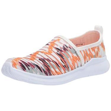 Sapato sem cadarço feminino Propét Travelbound Soleil, Laranja, 8.5