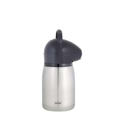 Garrafa Térmica de Pressão Nobile Total Inox 1,3 Litros - Mor