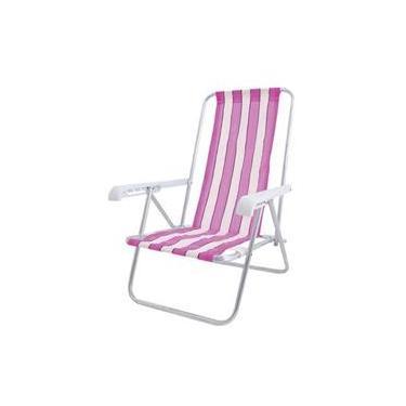 Cadeira De Praia 4 Posicoes Em Aluminio