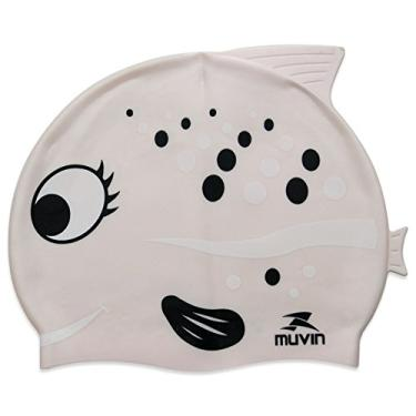 Touca natação Infantil Muvin - Peixe Rosa