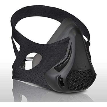 Quuner Máscara de treinamento Resistência à respiração Oxigênio Sport Fitness Mask 24 Níveis de resistência à respiração e imitar o treino em altas altitudes para corrida de bicicleta Fitness Jogging Escalada Cardio Exercise