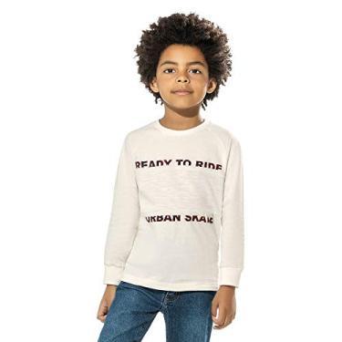Camiseta Infantil Masculina Trick Nick Bege 6