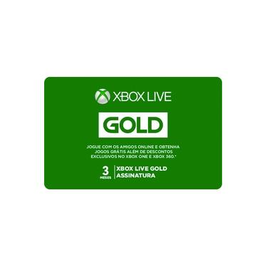 Gift Card Digital Xbox Live 3 Meses