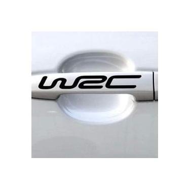 4 Pçs / Set Maçaneta Da Porta Do Carro Adesivos Auto-adesivo WRC Letter Decal Decoration
