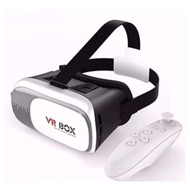 Óculos Realidade Virtual 3D VR Box + controle Bluetooth 2.0
