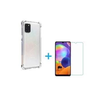 Kit Capa Anti Impacto Samsung Galaxy A31 + Película Vidro