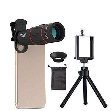 Kit Lente 18X Telephoto com Tripé APEXEL APL-T18ZJ para Smartphone
