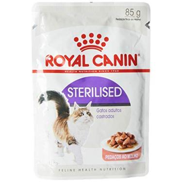 Royal Canin Ração Úmida Sachê Sterilised - Gatos Adultos castrados, Pedaços Ao Molho, 85g
