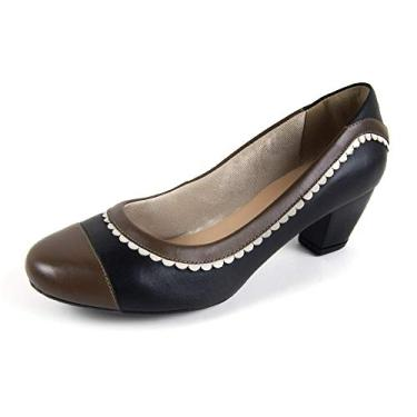 Sapato Scarpin Salto Grosso Linha Social Elegance Miuzzi - 3505 - Preto