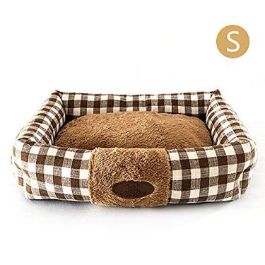 Cama de cachorro macia cama de cachorro retangular canil cama de gato almofada de cachorro quente cesta de suprimentos tapete