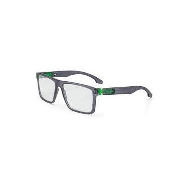 e401d2b94dcd2 Armação Oculos Grau Mormaii Banks M6046D6355 Preto Verde