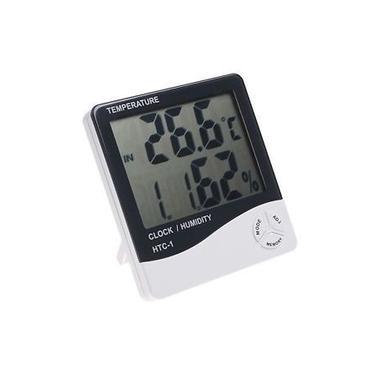 Termometro Digital Com Relogio Medidor De Temperatura E Umidade Termo Higrometro Com Despertador