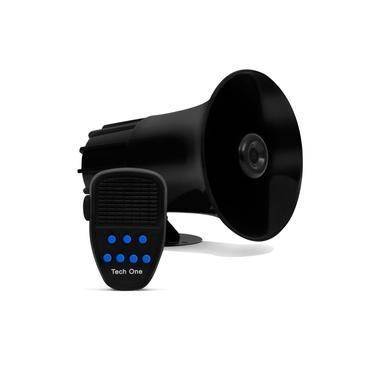 Sirene 12V Tech One 7 Tons Microfone Megafone Buzina Policia Militar Tipo Rontan Bombeiro Carro Moto