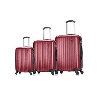 Conjunto malas de viagem Londres P, M e G Swiss Move Vinho