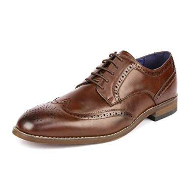 Bruno Marc sapato social masculino formal Oxford, William 2-brown, 12