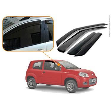 Calha de Chuva Acrilica Adesiva Fiat Uno Vivace 2010 a 2015 2 Portas