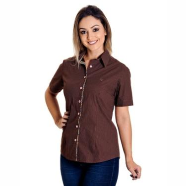 14d0135570 Camisa Pimenta Rosada Poá Bruna - Feminino