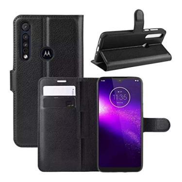 Capa Carteira Flip Premium Motorola Moto G8 Plus (Preta)