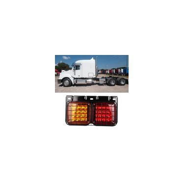 Trailer / Truck LED traseiro luz traseira sinalizadores 24V com cobertura de malha de ferro