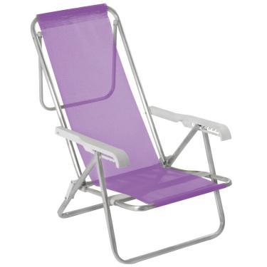 Cadeira Alta Reclinável de Alumínio Mor, 8 Posições, Dobrável - 2293