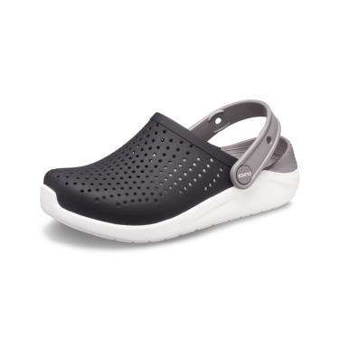 Sandália LiteRide Kids Crocs ™ Preto/Branco  menino