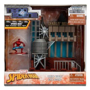 Metalfigs Nano Spider-man City - Homem Aranha Metal Die Cast