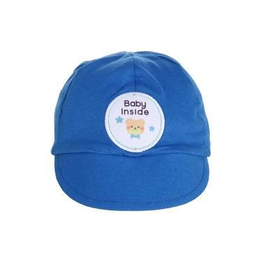 Boné Chapéu Bebê azul Baby Urso