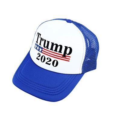 ABOOFAN Trump 2020 Sun Hat Criativo Presidente Eleição Boné de beisebol Chapéu exclusivo de Hip Hop para homens e mulheres - azul decoração de casa