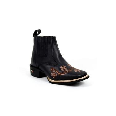 Botina Mr West Boots Fossil Preto
