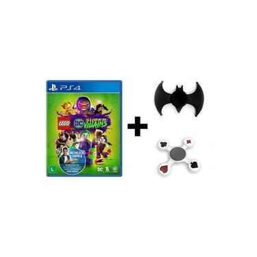 Jogo Lego DC Super Villains + Hand Spinner Batman + Naipes - PS4