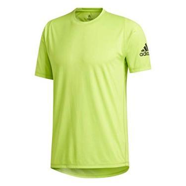Camiseta masculina Adidas FreeLift Sport Prime Heather, Semi Solar Slime, Medium